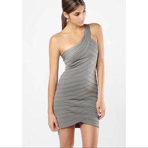 NWT BCBG MAXAzria one shoulder bandage dress